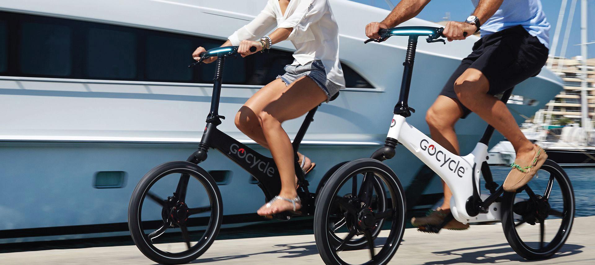 GoCycle Couple Riding G3C | The Garage OTR
